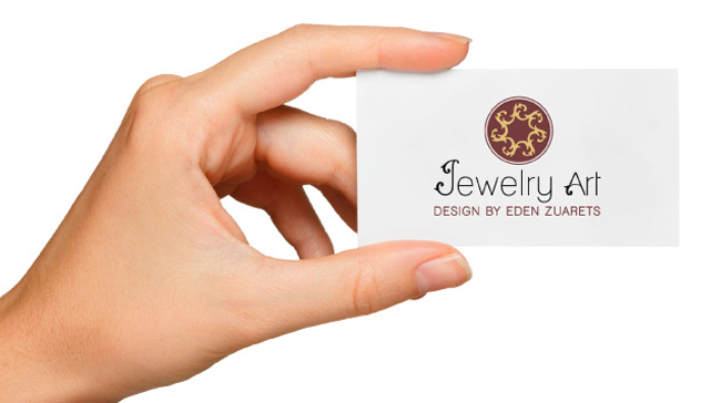 עיצוב כרטיסי ביקור של חברת תכשיטים